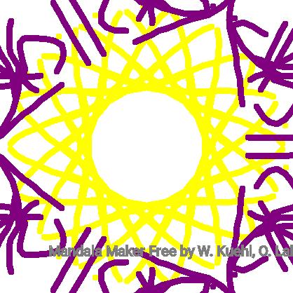 Purple & Yellow Mandala