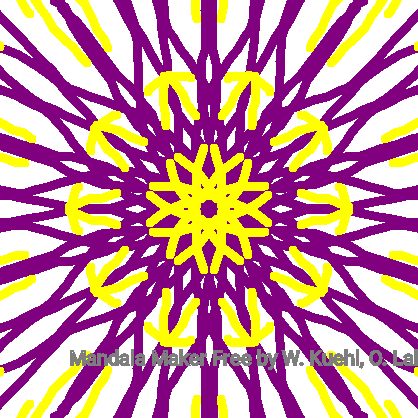 Purple & Yellow Mandala