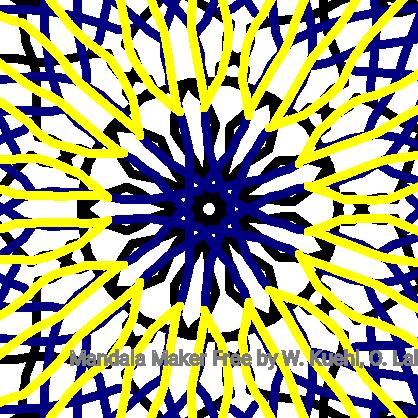 Black, Blue, & Yellow Mandala