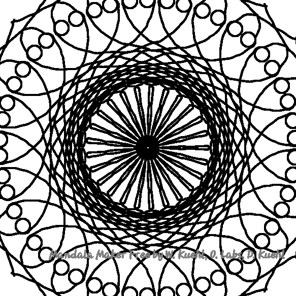 a simple yet fun mandala that if you took the time to colour it, it could be, not just a mandala, but a work of art